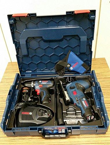 Bosch-Professional-Set: Bosch Akkuschrauber GSR 10,8-2-LI + Bosch Akkustichsäge GST 10,8 V-LI - 2