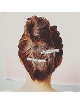 Tefamore Horquilla Mujeres Accesorios Pinza para el cabello Headpiece(Tijeras y estilo de peine)