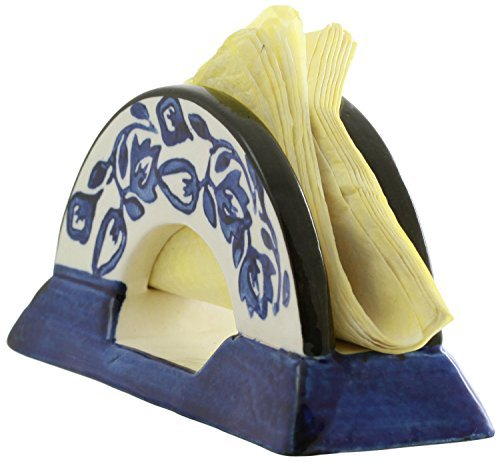 SouvNear Serviettenhalter - Keramik Serviettenhalter als dekoratives Mittelstück - perfektes Küchenzubehör - Ein handgemachtes Geschenk aus Indien