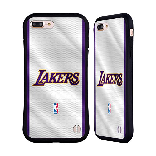 Ufficiale NBA Icona Oversize Los Angeles Lakers Case Ibrida per Apple iPhone 6 Plus / 6s Plus Maglia