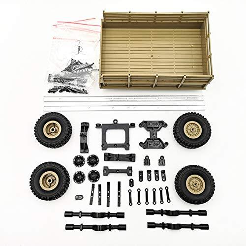 JVSISM Für Wpl Rc Auto Zubeh?r DIY 4 Rad Trailer Truck GAZ Truck Auto Teil Ersatz (Gelb) (Rc Trucks Für Verkauf)