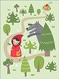 Posterlounge Leinwandbild 120 x 160 cm: Märchen Rotkäppchen für Das Kinderzimmer von Petit Griffin - fertiges Wandbild, Bild auf Keilrahmen, Fertigbild auf Echter Leinwand, Leinwanddruck