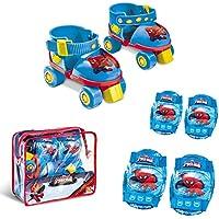 mondo 18390 - Vélo et Véhicule pour Enfant - Set Roller Skate + Protections Ultimate Spiderman