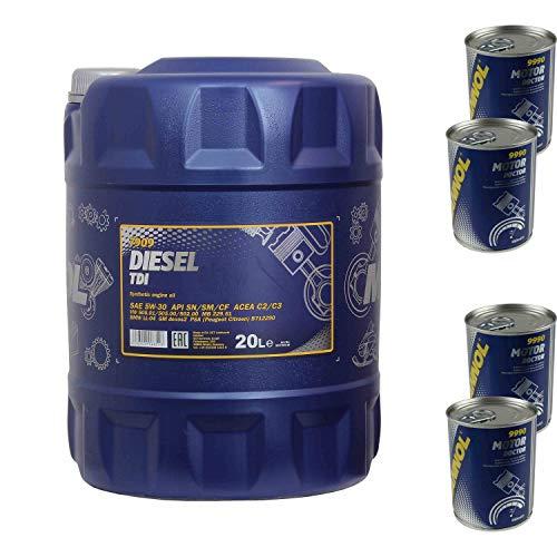 20L Motoröl MANNOL Diesel TDI 5W-30 4x Motor Doctor ADDITIV