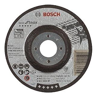 Bosch Professional Schruppscheibe gekröpft Best für Inox A 30 V BF, 115 mm, 22,23 mm, 7 mm, 2608603510