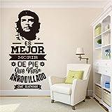 stickers muraux chambre Stickers muraux espagnols Citation Es Mejor Morir De Pie Que Vivir autocollant Arrodillado pour chambre salon