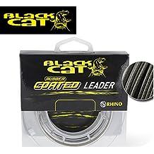 Black Cat Rubber coated Leader 20m grau Wallervorfach, Vorfachschnur für Wels, Welsvorfach, Wallerschnur für Welsvorfächer