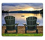 Best Luxlady Beach Chairs - Luxlady Mousepads Two wooden chairs on beach of Review