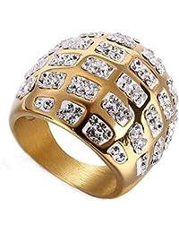 84c322a2f53c XBYBEI O para Mujer para Hombre Populares Arcilla Blanca Piedras Preciosas  Anillo de Diamante de Bling
