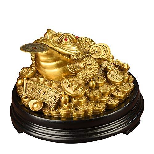 Frosch Kröte Und Kostüm - DDCYY GlüCksgeld Frosch/KröTe, Feng Shui KröTe/Froschschatzbecken,Statue Mit MüNze, Reichtum Und Viel GlüCk Anziehen, Feng Shui Dekoration (20 X 19.5 X 13cm)