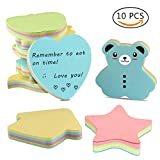 #9: Sticky Notes, Self-Stick Notes in Different Shapes, Colorful Super Sticky Notes,100 Sheets/Pad for Students, Home, Office, Easy Post(Pack of 10)
