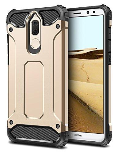 Mate 10 Lite Hülle, Coolden Premium [Armor Serie] Outdoor Stoßfest Handyhülle Silikon TPU + PC Bumper Cover Doppelschichter Schutz Hülle für Huawei Mate 10 Lite (Gold)