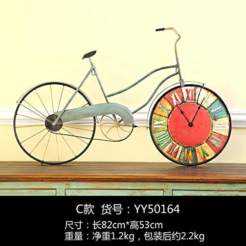 SL&HEY American retrò arte ferro Orologi Dimensioni ruota bicicletta orologio da parete creative home soggiorno orologi da parete orologio camera da letto ,YY50164