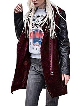 LuckyGirls ❤️• •❤️ Chaqueta de la señora de la cremallera de cuero chaqueta abrigo chaqueta de invierno chaqueta...