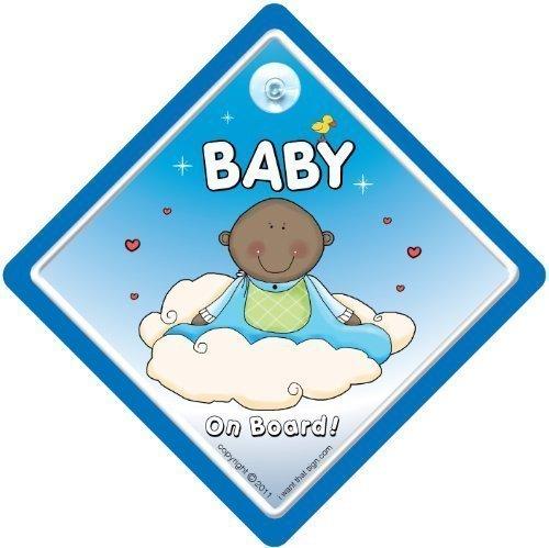 Baby On Board Schild mit Enkelkind, Baby On Board Schild