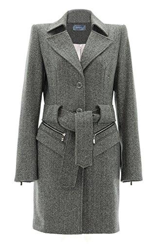 Stefanie Renoma Damen Mantel Grau Grau