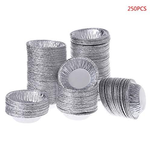 ruiruiNIE 250 Stücke Einweg Aluminiumfolie Backen Lebensmittel Torte Pfanne CuPieceake Fall Platte Form Zinn -