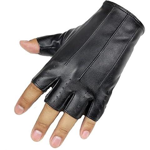 Sannysis Hombre Guantes Deportivos guantes gimnasio negro