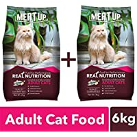 Meat Up Adult Cat Food, 3 kg (Buy 1 Get 1 Free)