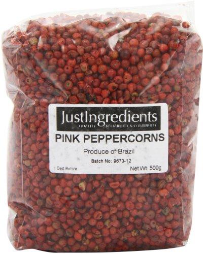 JustIngredients Essential Rosa Pfefferkörner, Pink Peppercorns, 1er Pack (1 x 250 g) - Pfefferkörner Rote