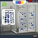 Aufkleber für docce-fantasia Blasen und Fische Tropische Cod.1427–1(blau)