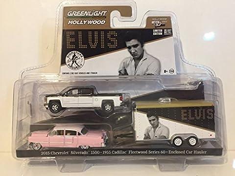2015 Chevrolet Silverado 1500 and 1955 Cadillac Fleetwood Series 60