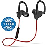Sony Xperia C5 Ultra Compatible Professional Bluetooth 4.1 Wireless Stereo Sport Headphones Headset Running Jogger Hiking Exercise Sweatproof Hi-Fi Sound Hands-free Calling Supported Devices QC-10 Sweatproof Earbuds, Best For Running,Gym Noise Cancellatio