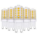 Albrillo 5er Pack 3.5W G9 LED Lampe 350 Lumen, 3000k warmweiß und Kein Flackern G9 LED Leuchtmittel Ersatz 40W G9 Halogenlampe, 360° Abstrahlwinkel