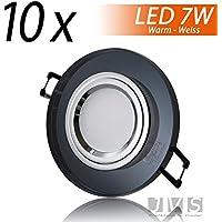 X Cristal Black Rotondo 230V LED SMD