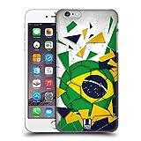 Head Case Designs Brasilien Fussball Glassplitter Ruckseite Hülle für Apple iPhone 6 Plus / 6s Plus