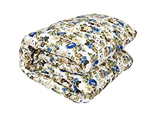 IndiWeaves Home and Furnishing Combo Pack 2( Pack of 1 Double Bed Quilt and 1 Mattress Protector)