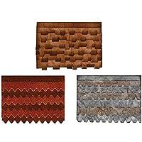 Sizzix villaggio tetti by Tim Holtz Bigz, Plastica ABS/Carb Compliant legno/steel-rule lama/Long Lasting espulsione Schiuma, Multicolore - Big Shot Taglio Pad