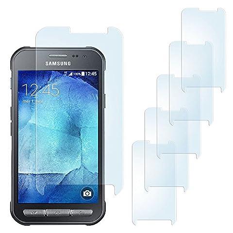 5x Samsung Galaxy Xcover 3 Schutzfolie Matt Display Schutz [Anti-Reflex] Screen protector Fingerprint Handy-Folie matte Displayschutz-Folie für Samsung Galaxy Xcover 3