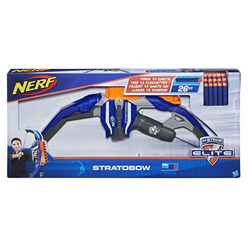 Hasbro Nerf N-Strike Elite Stratobow toy bow with clip for 15 darts/arrows