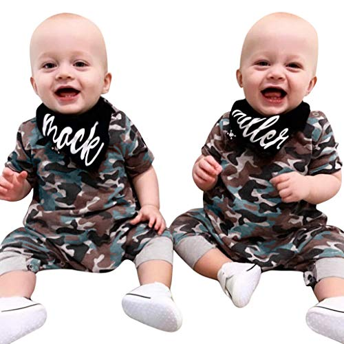 Allence Baby Jungen Mädchen Camouflage Print Kapuzen-Overall Overall Kleidung Outfits + Bibs Camouflage-baby-bib