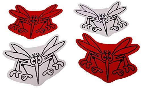 Magnete für Fliegengitter Durchlaufschutz Reparaturset und Vogelschlagschutz in einem (2 Satz Mücke weiß-rot/klein)