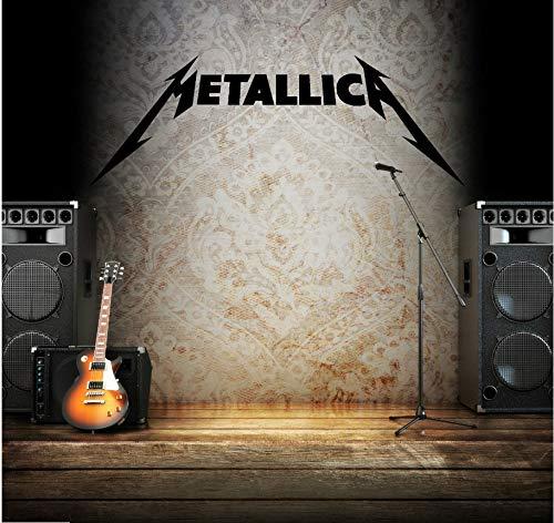Pegatinas de vinilo de pared para los niños habitación etiqueta de la música etiqueta de la música Heavy Metal Rock Band decoración del hogar tatuajes de pared 118x41 cm