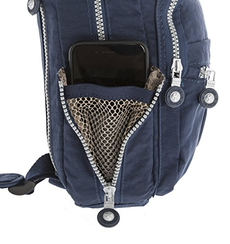 Big Handbag Shop, Borsa a zainetto donna Backpack Style 4 - Navy