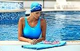 Aqua Speed Bunte Badekappe | Silikon | Bademütze | Badehaube | Schwimmhaube | Schwimmkappe | Erwachsene | Kinder | Kleines Mikrofaser Handtuch