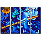 Ray Decor's Multiple Sparkling Radha Krishna Painting-4 Frames(24 X 36 INCH)-Wall Decor/Wall Decal/Wall Hangings/Home Decor/Gift Items