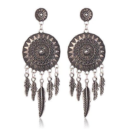 Shining Diva Fashion Jewellery Oxidized Silver Stylish Fancy Party Wear Traditional Earrings For Women & Girls Jewelry