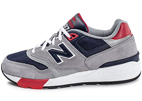 New Balance ML597 - Pointures US homme : 8.5, Couleurs : Grey/Navy