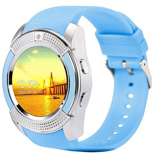 BHYDRY P1 Bluetooth Smart Watch Armband Band Blutdruck Herzfrequenzmesser Fitness(1*pc,Blau)