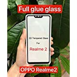 KOKO 5D Tempered Glass With Curved Edges And 9H Hardness - Full Glue Edge-Edge Screen Protection For Oppo Realme 2 (Black)