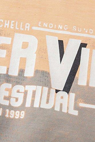 Kitaro Herren Shirt Motiv T-Shirt Coachella Valley Aprikot