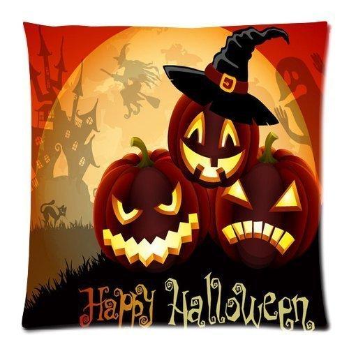 LoveBiuBiu 21 Happy Halloween Pumpkins Zippered Decoration Pillow Case Cushion Cover 18 inch (Daniel Halloween Tiger)