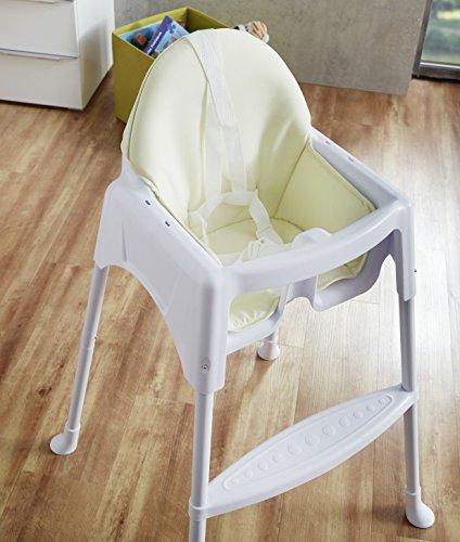 IMPAG–Baby-Kinder-Hochstuhl-2-in-1-mit-Sicherheitsgurt-2-Sitzverkleinerer-standfestes-Metallgestell-zerlegbar-groer-abnehmbarer-Tisch-wandelbar-zum-Kinderstuhl-sicherheitsgeprft