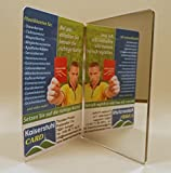 KaiserstuhlCard Spiegel Visitenkarte als Werbemittel Werbeartikel Werbegeschenk (20 Stück) Weihnachten Hochzeit Gastgeschenk