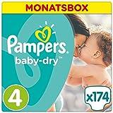 Pampers Baby Dry Windeln, Gr. 4 (8-16 kg), Monatsbox, 1-er Pack (1 x 174 Stück)