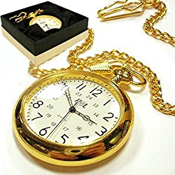 Personalised Open Face Pocket Watch In Gift Box Engraved Gift